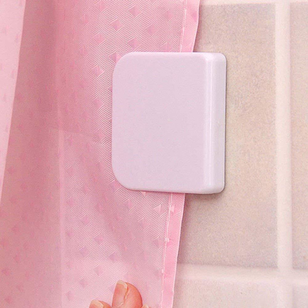 Get Quotations 2Pcs Set Durable Plastic Self Adhesive Bathroom Shower Curtain Clip Splash Guard