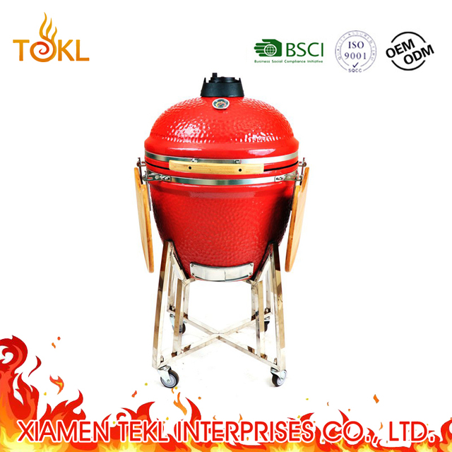 "21"" to 29"" China Home and Garden Mobile Used Big Black Egg Kamado Joe Style Clay Ceramic Cooker Auplex Kamado for Sale"