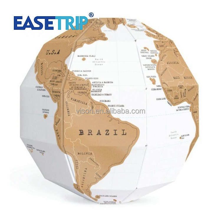 Factory Wholesale Popular Fun 3D Globe World DIY Travel Map
