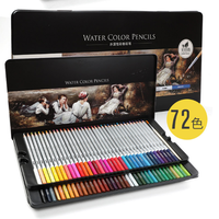 72 Watercolor Pencils Set for Coloring Books
