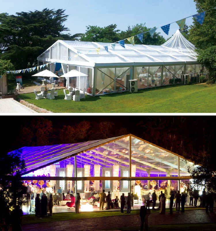 Luxury Aluminium Structure Pvc Roof Wedding Marquee Tent With