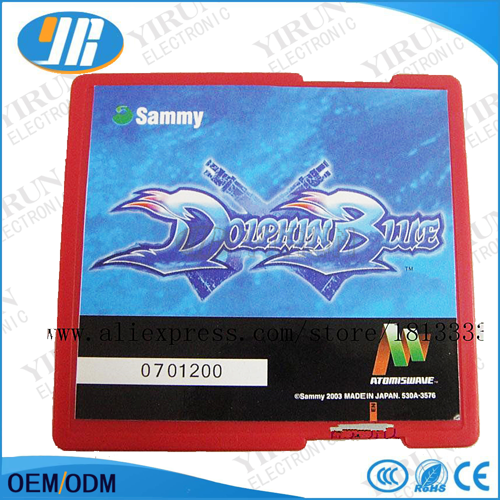 Dolphin blue arcade game card, sammy cart suitable for atomiswave mother board