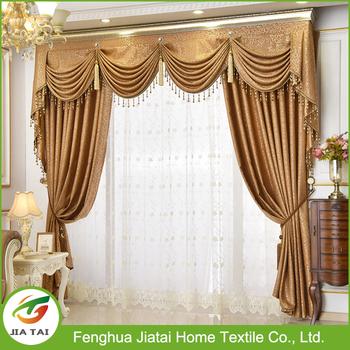 Church Curtains With Valance,European High Grade Luxury Curtain, Beautiful  Curtains