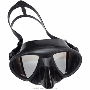 Panoramic View adult kids silicone snorkeling diving spearfishing freediving low volume frameless free diving mask