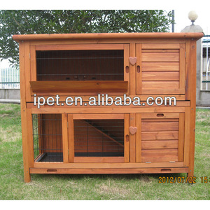 Two story wooden bunny rabbit hutch RH047