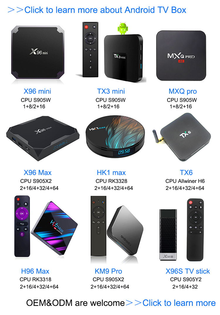 Best quality guarantee Amlogic S905W 64 bits MXQ PRO MINI set top box software update android tv box quad core