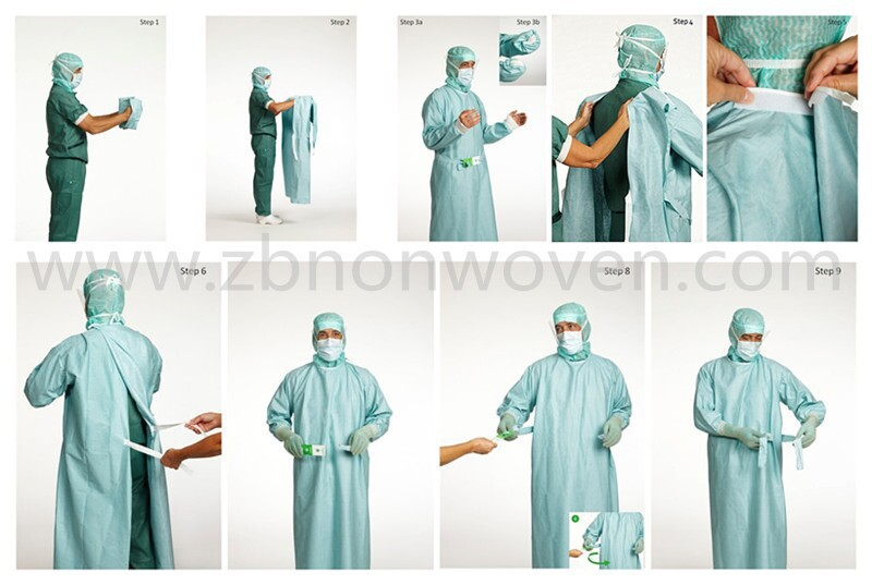Hospital Clothing Patient Surgical Gown Sterile Disposable Medical ...
