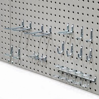 Metal Pegboard Panel Perforated Tool Board Display Racks