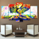 5 Panel Modern Print Abstract Buddha Painting Picture Canvas Living Room Wall Art