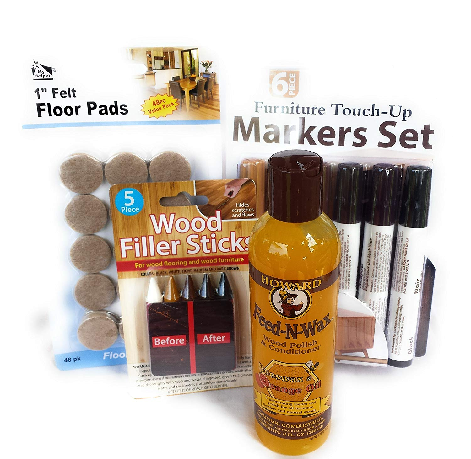 Get Quotations Furniture Repair Kit With Howard Feed N Wax Wood Polish Filler Sticks