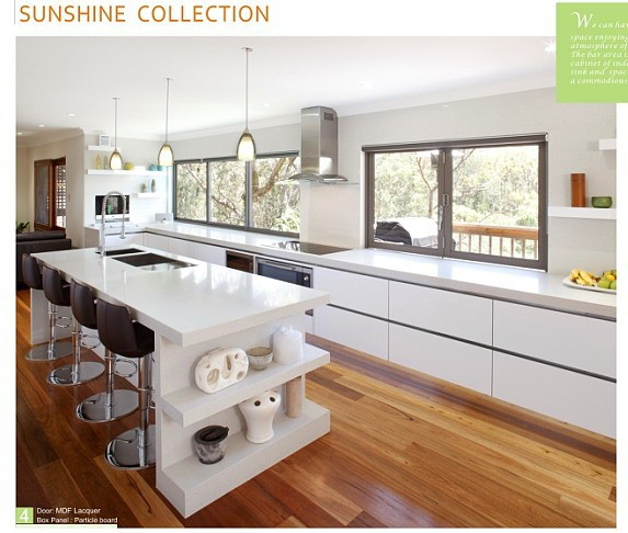 Modular MDF Lacquer Modern Kitchen Cabinet Design