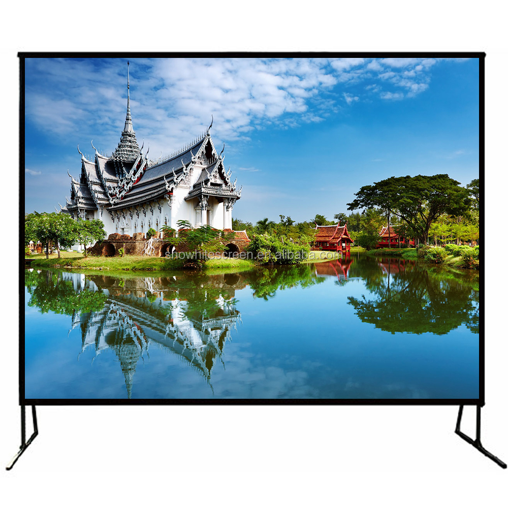 "SNOWHITE 150"" 4:3 Format SX150BZV Fast Fold Projection Screen for show and concert"