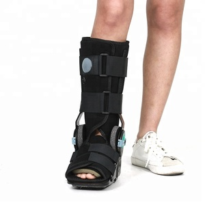 Pneumatic compression support hinged ankle brace