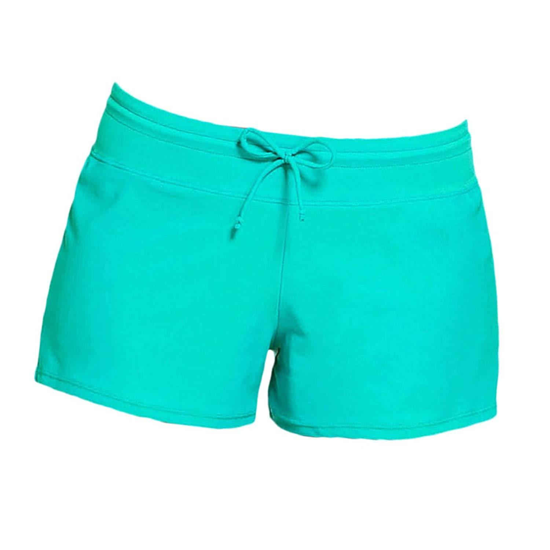 dcee68924c30 Get Quotations · Baoblaze Women Lady Girls Summer Plain Adjustable  Drawstring Swim Shorts Bikini Swimwear Boy Style Shorts Split