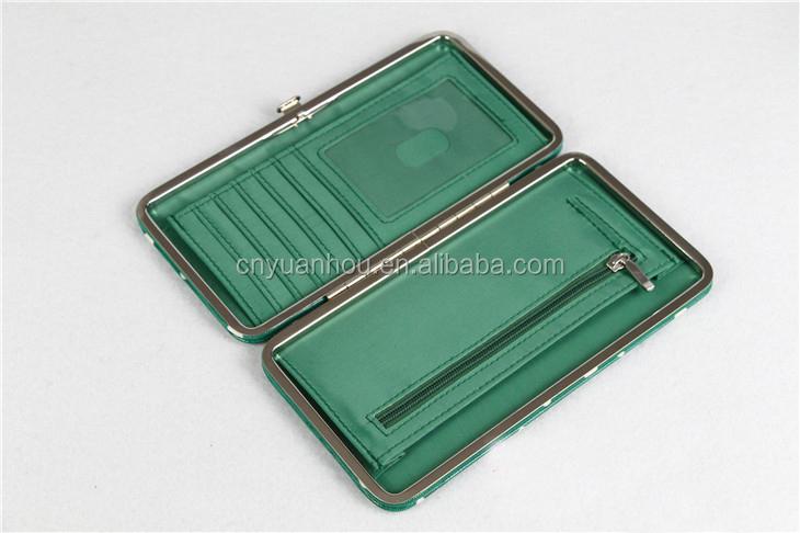 """Green Flat Clutch Women's Wallet 7.5""""x4.5"""""""