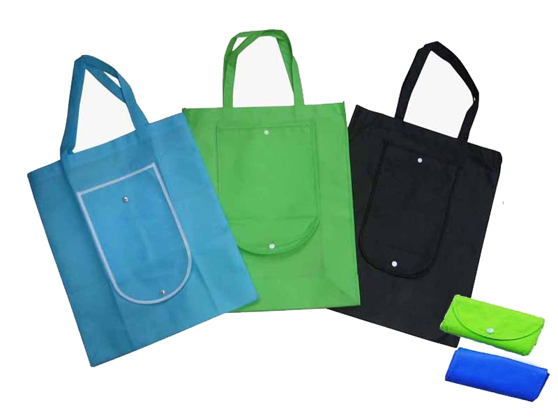 Eco-Friendly foldable roll-up pp plastic Nonwoven fabric Shopping Bags