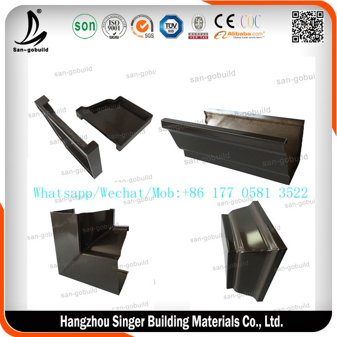 3inch Pvc Rain Gutter In Cooper Color Ningbo Cheap Plastic