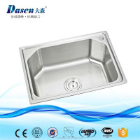 DS 5238 China Modern Design deep drawn stainless steel plastic colander kitchen sink mixer tap faucets