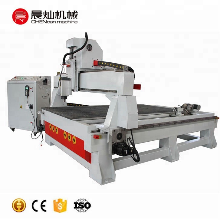 Wood Sculpture engraving CNC Router Machine 1325 AG with rotary axis
