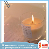 Wholesale oem personalized fragrance burning oil glass jar scented candle