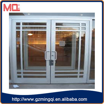 Nuevo Diseño Exterior De Aluminio Vidrio Templado Barato Puerta De ...