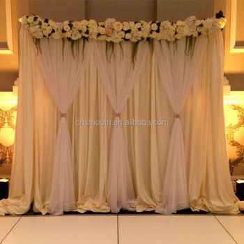 Oem Factory Tulle White Wedding Stage Backdrop Decoration With Curtains Buy Tulle Curtains Weddingwedding Background Curtainswedding Stage