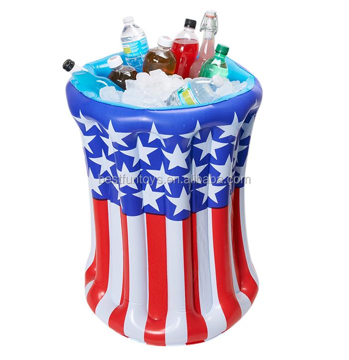 Oem Plastic Luau Inflatable Jumbo Tiki Tube Cooler Ice Bucket Wine ...