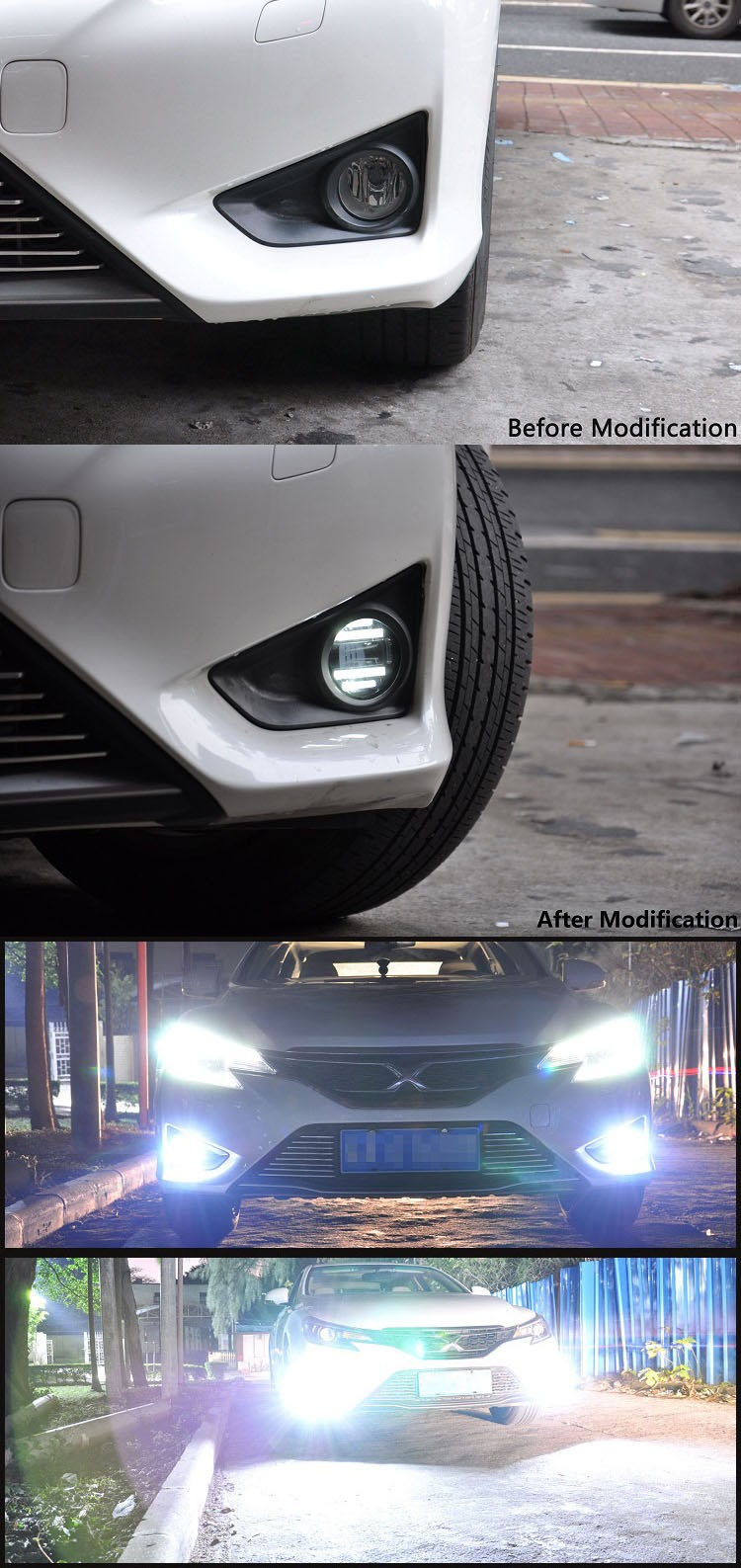 Wonderful led lighting spare parts ranger/figo/mondeo/ waterproof led DRL car fog light