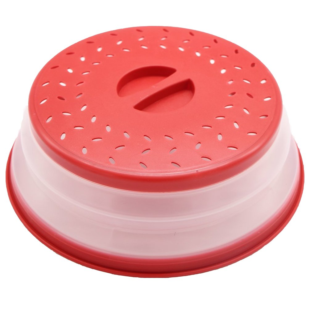 Best Collapsible Microwave Cover - 10.5in BAP Free and Non-toxic Food Cover Cover Your Dish in the Microwave - Prevent Food Splatter - Heat Resistant, Large Plate Cover