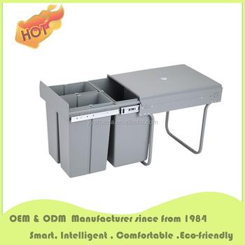 Drawer Waste Bin Kitchen Cabinets Accessories Under Counter Trash Can