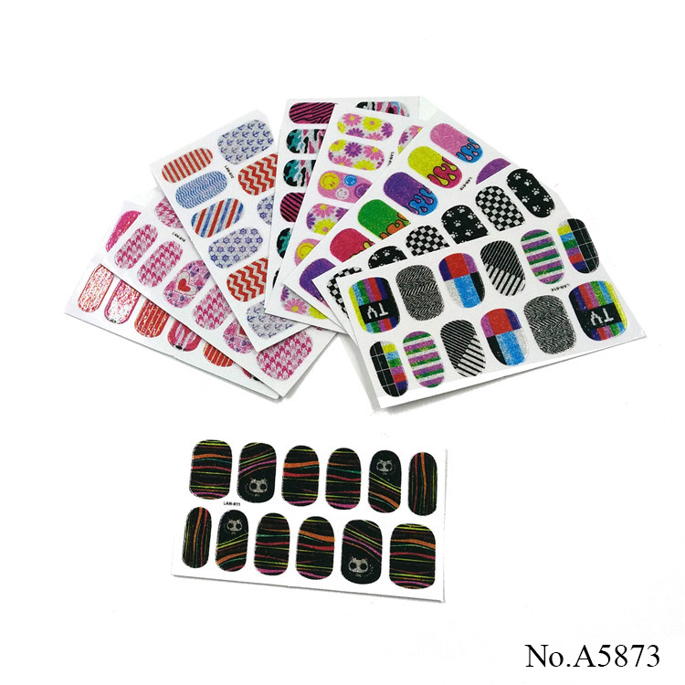 A5873 Fashion Adhesive Printing Nail Water Transfer Decals