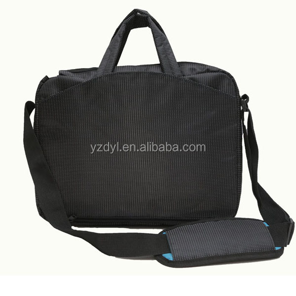 High quality polyester business shoulder laptop messenger bag