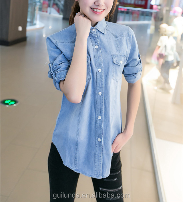 Female short slim denim jacket spring and autumn fashion coat all-match Korean students long sleeved jeans