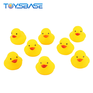 Rubber Swan Duck Toys 2019 Lovely Animal Set Small Baby Cute Yellow Rubber Ducks Bath Toy