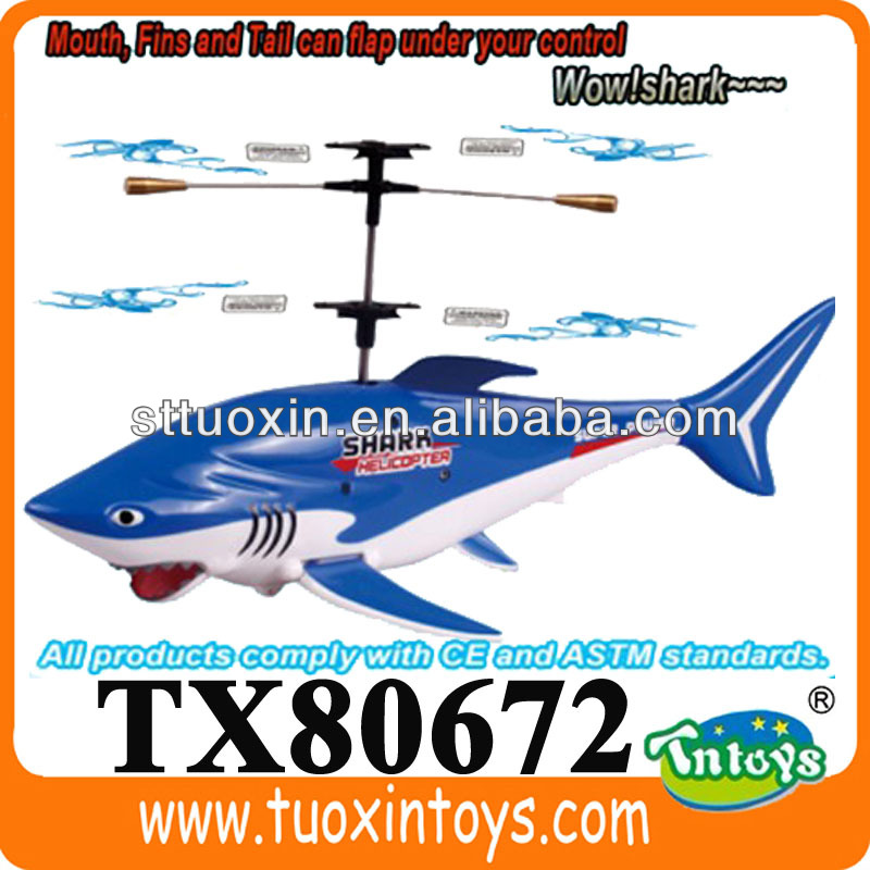 3ch RC Flying Fish Toy remote control toy shark flying fish, flying shark
