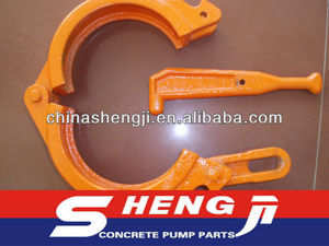Zoomlion Dn100 concrete pump pipe wedge clamps