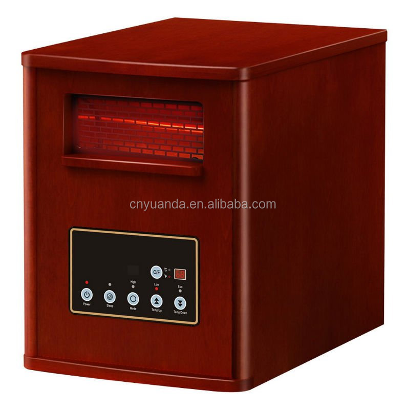 Electric infrared heater wood with remote control