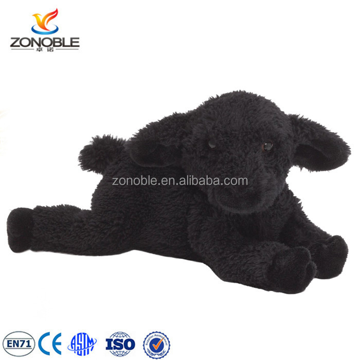 China Factory Custom Cute Sheep Plush Toy Fashion Soft Stuffed Black