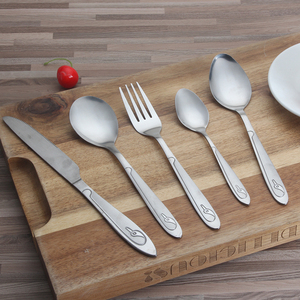 Profit 4pcs Best Flatware Brand High Quality Brushed Metal Finish Cutlery Set