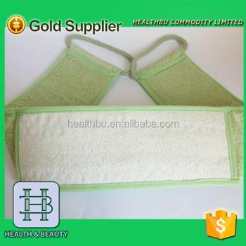 Loofah Back Scrubber Type And Bamboo Fiber Loofah Material
