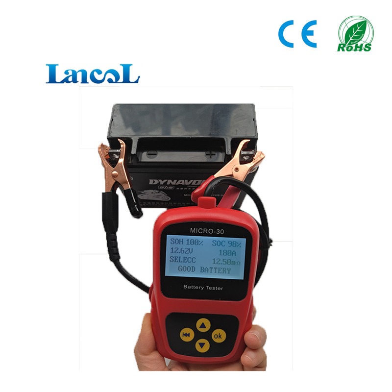 12V Car Battery Capacity Tester MICRO-30 Digital Battery Diagnostic Tool