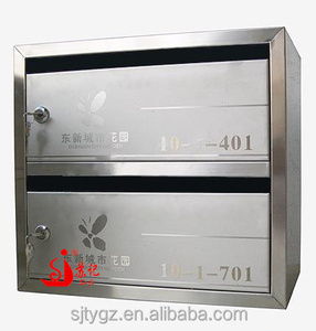 Residential or commercial stainless steel China mailbox from Guangzhou factory