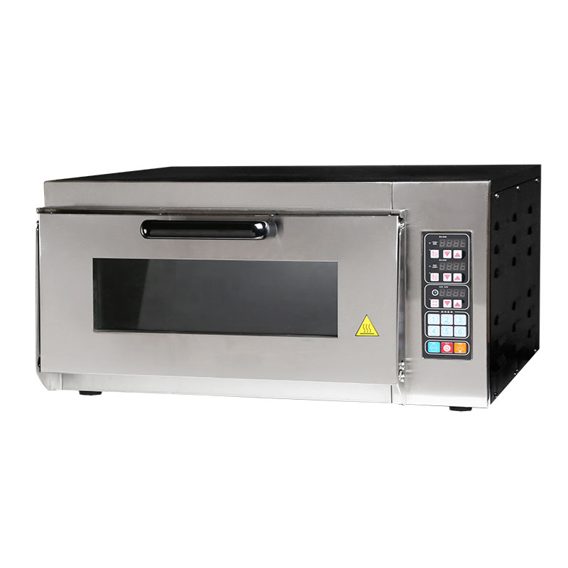 kitchen equipment digital controlled single layer pizza small gas oven