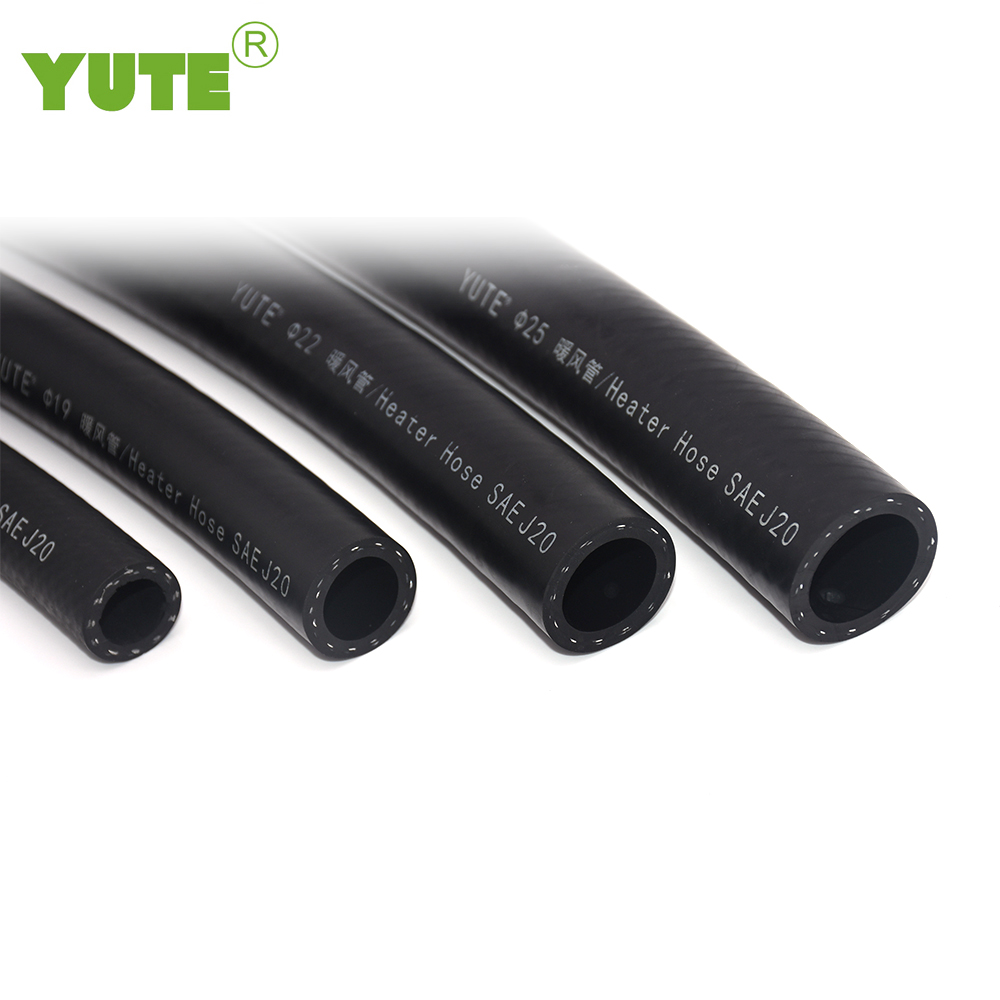 YUTE made  IATF 16949 car engine coolants system 1inch black epdm rubber water heater hose with SAE J20 R3