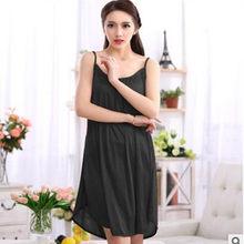 Женское спальное платье XXL, XXXL, большого размера, ночная рубашка из сатина белого/черного цвета(Китай)