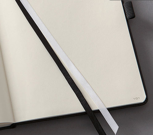 A4 Wood -free notebook with wave pu leather hardcover planner