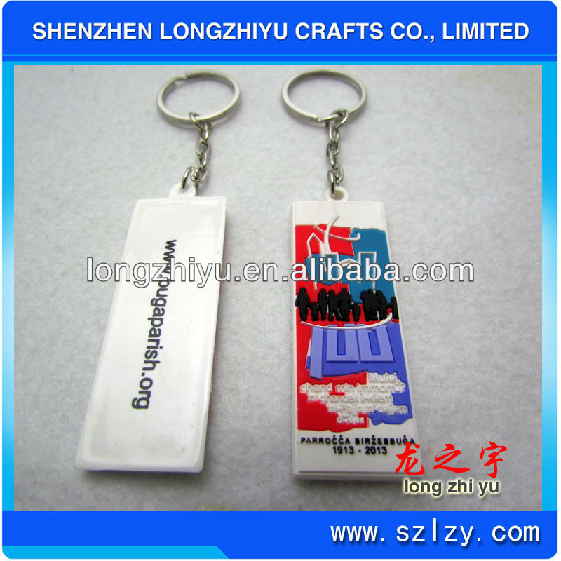 Custom fahion personalized colorful 3d pvc key chains 2d pvc keyring for commemorative souvenir promotion gifts