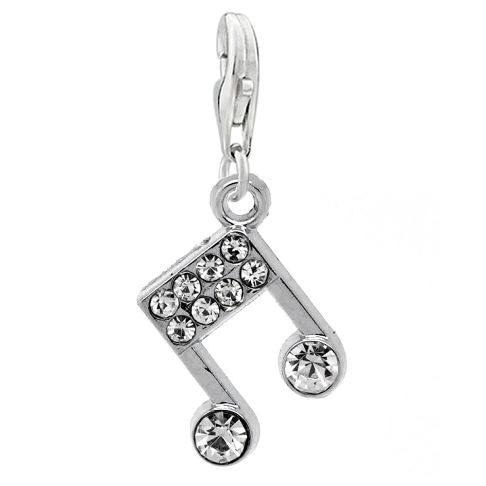 18860ce8659d Get Quotations · SEXY SPARKLES Musical Note Charm for European Clip on  Jewelry w/Lobster Clasp