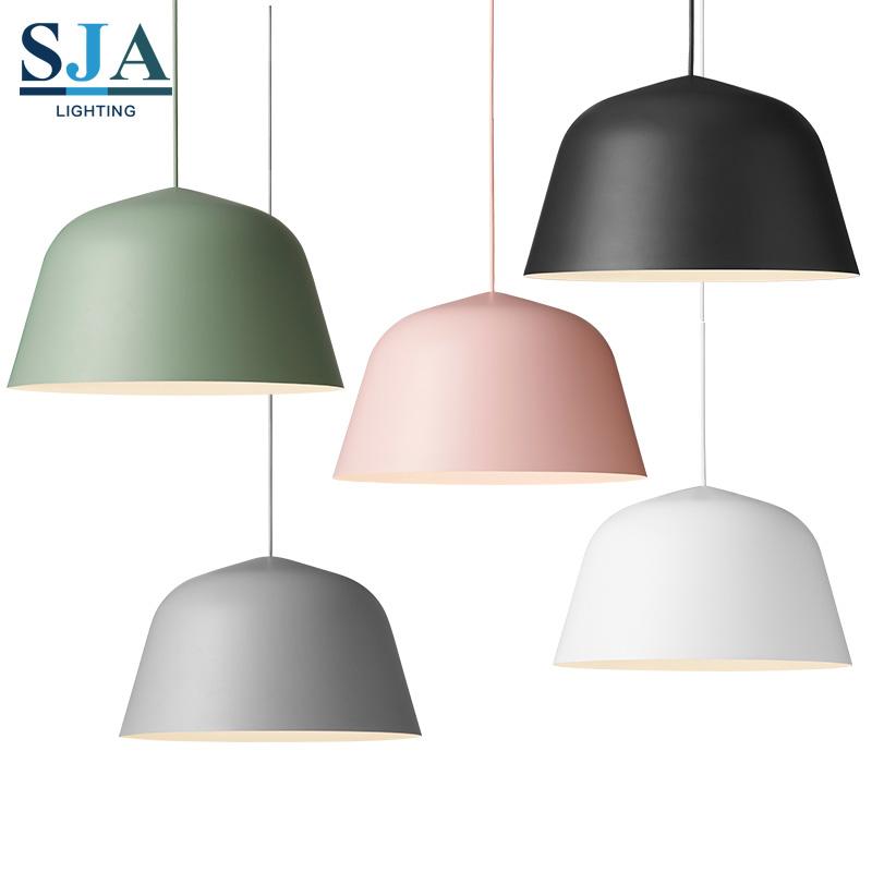 OEM Einfache Metall Rosa Schwarz Grün Grau Hängen Licht Tisch Kronleuchter  Luxus Moderne