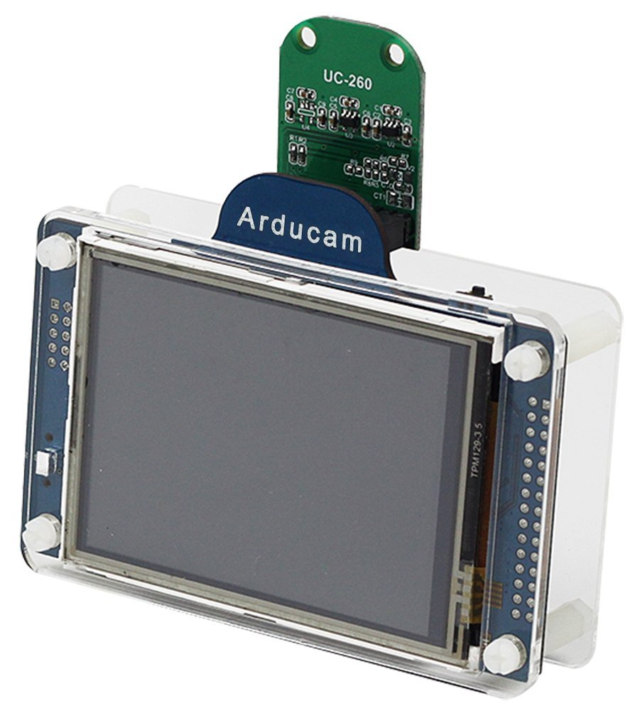 Arducam LF Shield V2 Kit Included Shield V2 Board with 3.2 Inch LCD OV2640 Mini Camera Module and Clear Acrylic Case for Arduino UNO Mega2560 DUE
